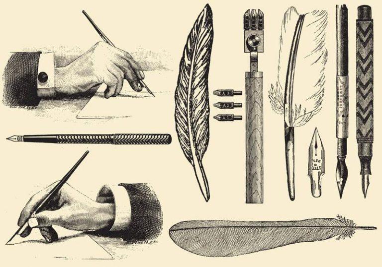 old manuscrit about pen