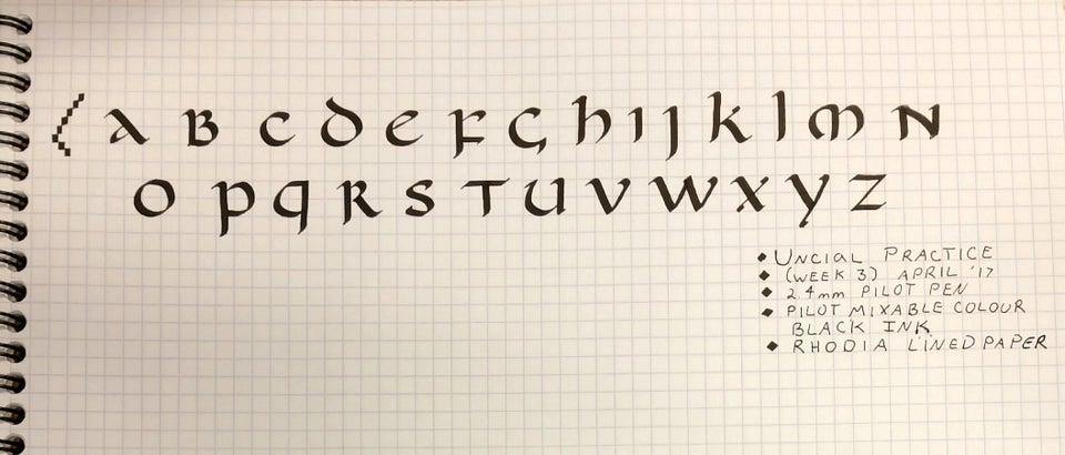 Uncial text