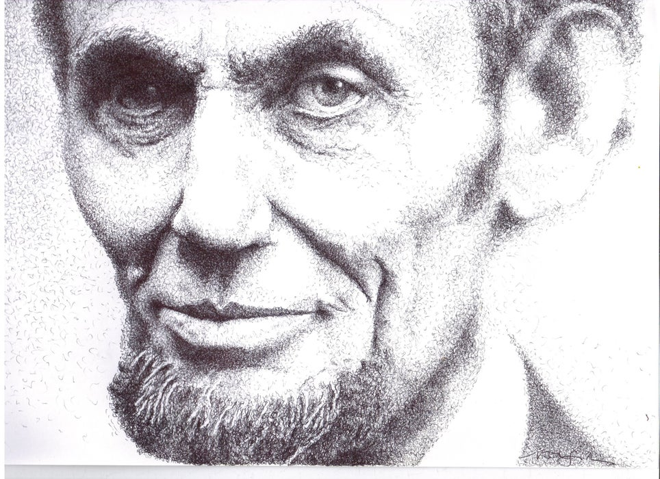 picture of man sketch with pen